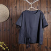 Women Spring Casual Solid Pullover Short Sleeve T-Shirt