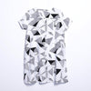 Women Summer Casual Geometric Pullover Loose Short Sleeve Dress