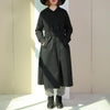 Women Winter Casual Cotton Solid Loose Long Sleeve Trench Coat