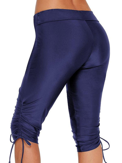 Plus Size Solid Wrap Sports Shorts