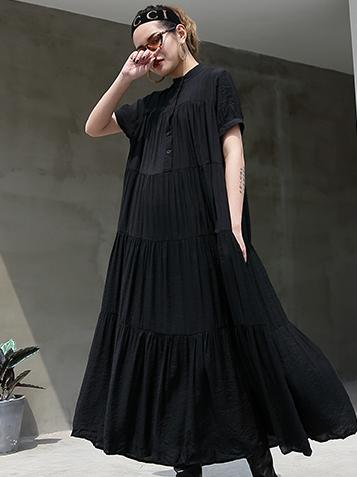 Loose A-line Long Dress