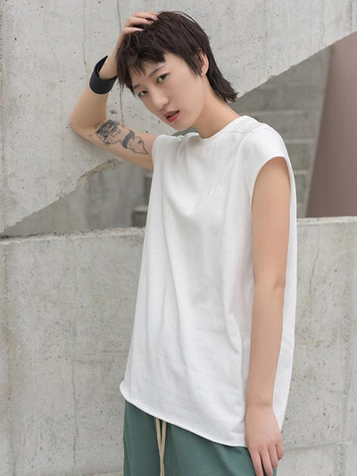 Fringed Loose Solid T-Shirt
