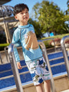 AONIHUA Long Sleeves Little Boy Swimwear