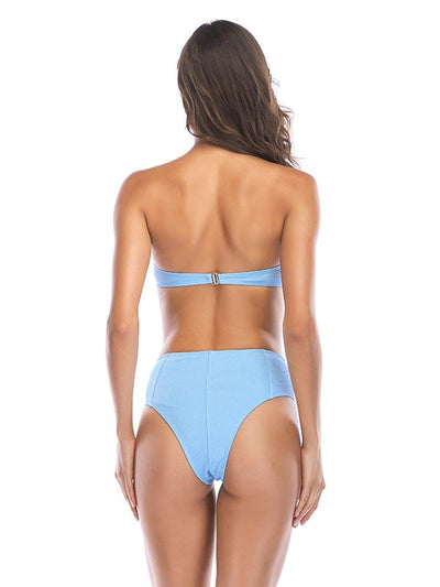 Wrapped High Waist Bikinis Swimwear