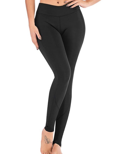 Pocket Solid Yoga Leggings