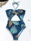 Sexy Strapless Backless Printing One-Piece Swimwear