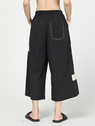 C Yards Original Split-joint Lace-up Pants