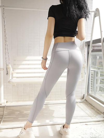 Solid Split-joint Skinny Leg Yoga Legging