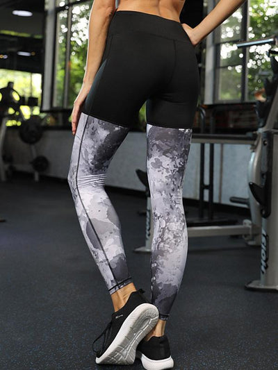 Split-joint Wrap Printed Yoga Leggings
