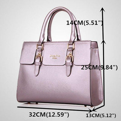 5 PCS Women Bright Color Leisure PU Leather Bag