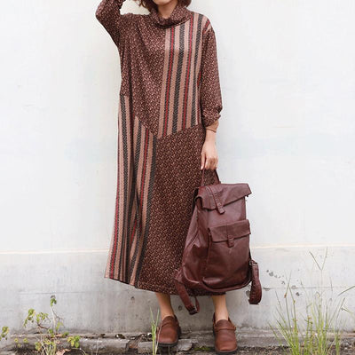 Beautiful Delicate Pattern Casual Loose Dress