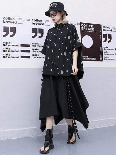 Irregular Loose Batwing Shirt