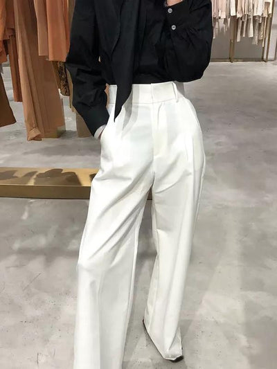 Loose High-waist Wide Leg Pants