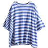 Cotton Striped Round Neck Casual Blouse