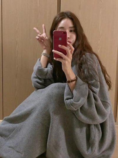 SUPER LOOSE PUFF SLEEVE LONG ROBE