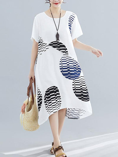 Casual Printed Long Shirt Dress