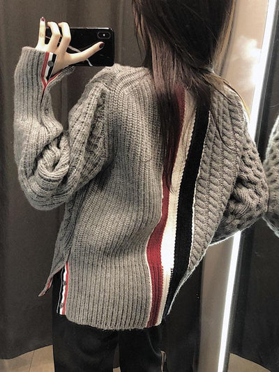 SPLIT-JOINT KNITTING LOOSE SWEATER