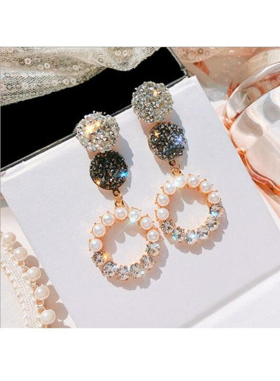 Diamond earrings long stars earrings