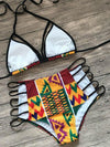 Ethnic Triangle Top With High Cut Panty Bikini Set