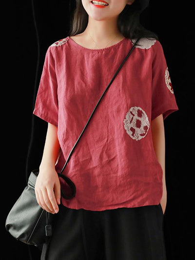 Retro Embroidered T-shirts