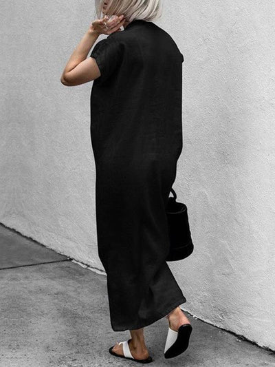 Simple 2 Colors Maxi Dress