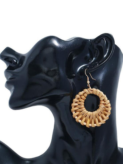 Exaggerated Bamboo Earring Accessories