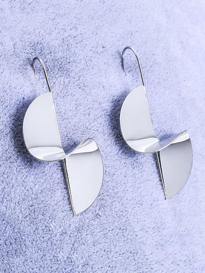 Simple Twisting Alloy Earrings