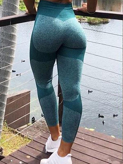 Knitting Athletic Color Block Leggings