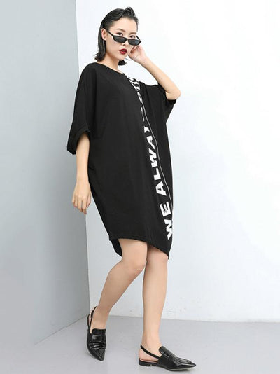 Loose Irregular Batwing Long T-shirt