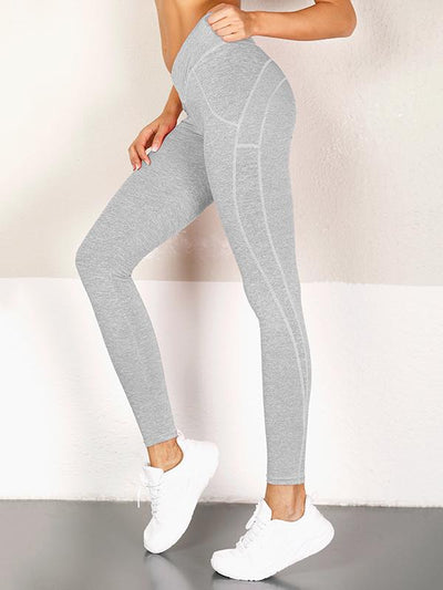 Solid  Fitness  Spandex Leggings
