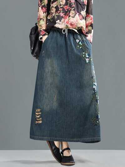 Retro Embroidered Skirts