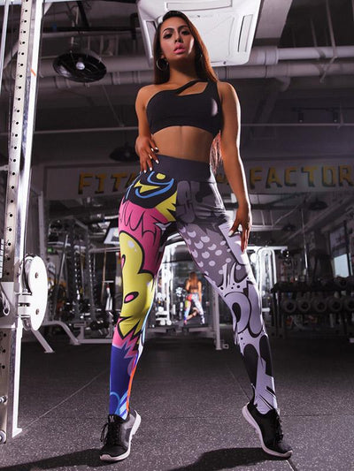 Cartoon Design 3D Printing Leggings