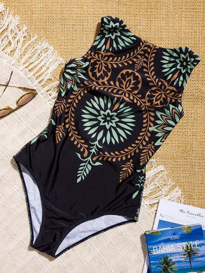 Printed Dull Sexy One-piece Swimwear
