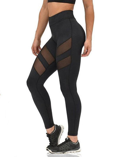Hollow See-through Plus Size Leggings