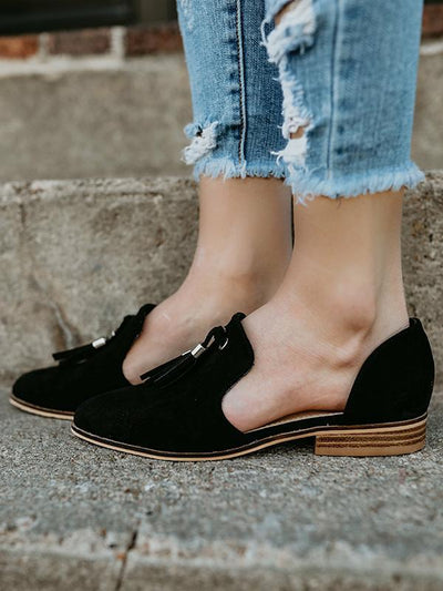 Simple Causal Low-heel  Shoes
