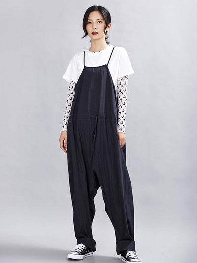 Loose Solid Braces Jumpsuit