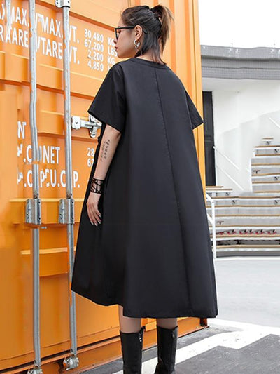 Loose Belt Split-joint Dress