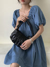 Fashion Solid Pleats Shoulder Bag