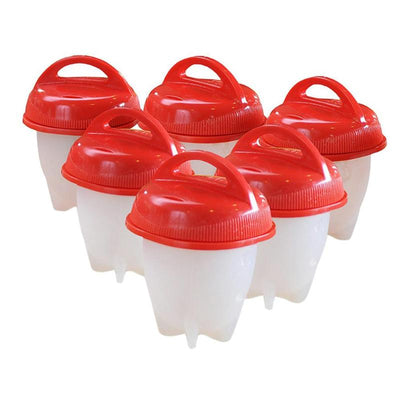 6pcs Silicone Boiled Egg Cup Cooker Kitchen Gadgets