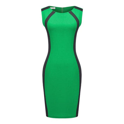 Super Fashion Office Pencil Dress, Three Colors