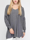 V-neck Loose Knitting Sweater Tops