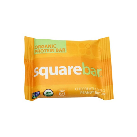 Square Bar Chocolate-Coated Peanut Butter Organic Protein Bar