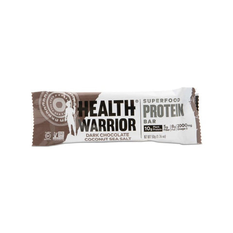 Health Warrior Dark Chocolate Coconut Sea Salt Superfood Protein Bar