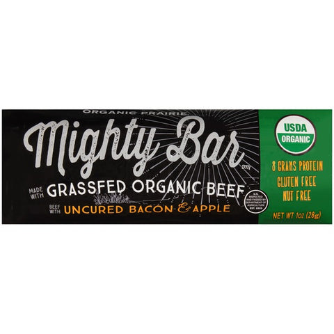 Organic Prairie Mighty Bar Organic Beef with Uncured Bacon & Apple Protein Bar