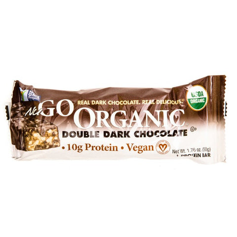 Nu Go Organic Protein Bar Double Dark Chocolate