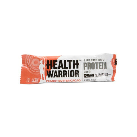Health Warrior Peanut Butter Cacao Superfood Protein Bar