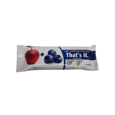 Thats It Apple + Blueberry Fruit Bar