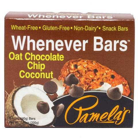 Pamela's Whenever Bars Gluten-Free Oat Chocolate Chip Coconut - 5 CT