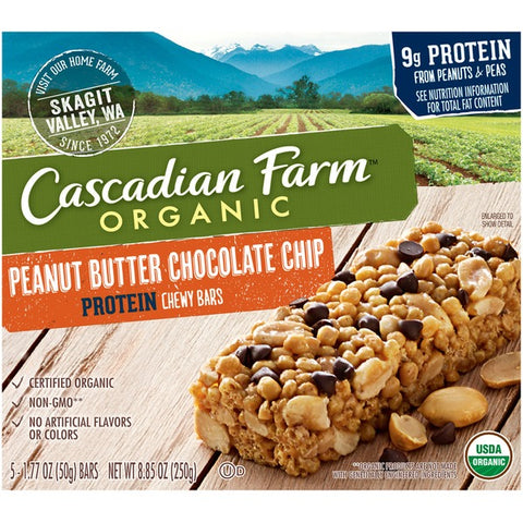 Cascadian Farm Organic Protein Chewy Peanut Butter Chocolate Chip Granola Bars