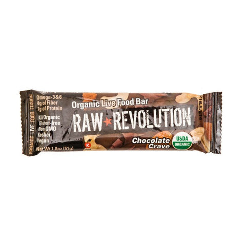 Raw Revolution Organic Live Food Bar Chocolate Crave